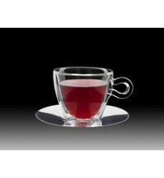 Luigi Bormioli Thermic Cappuccino with Saucer, Clear, Set of 2