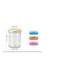 Aggarwal Crockery & Scientific Stores 125ml Round Glass Jar Set of 6