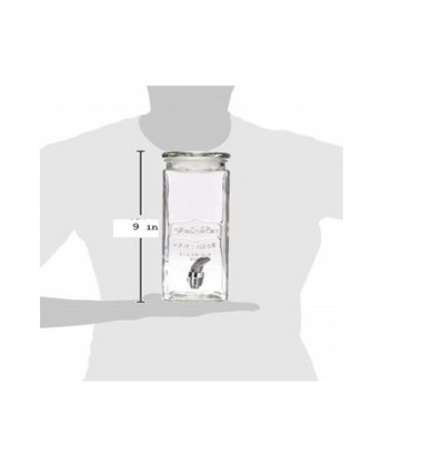 Aggarwal Crockery & Scientific Stores Yorkshire Elegant Two Decal Canister with Black/White Metal Stand 1.6L