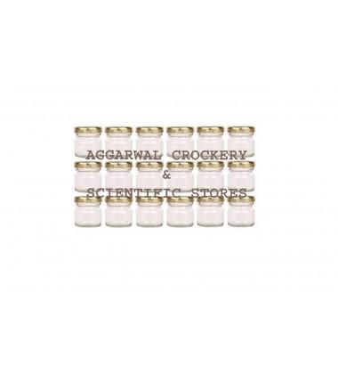 Aggarwal Crockery & Scientific Stores Glass Miniature jar 40ml Set of 18