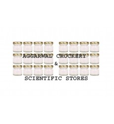 Aggarwal Crockery & Scientific Stores Glass Miniature jar 30ml or 25gm, Set of 24