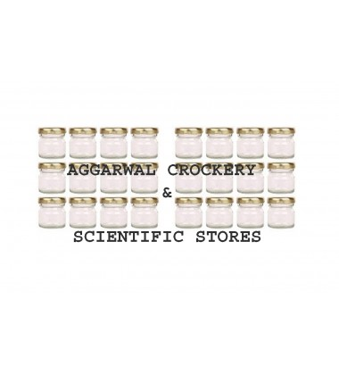 Aggarwal Crockery & Scientific Stores Glass Miniature jar 30ml or 25gm, Set of 24