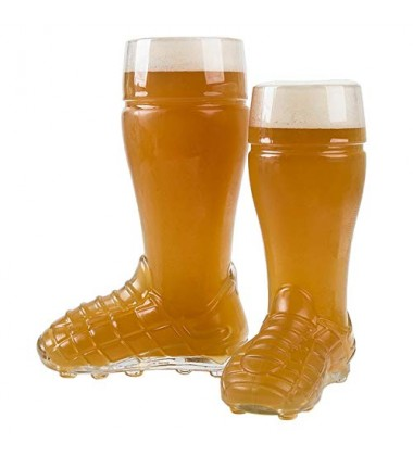 Borgonovo Boot Soccer Beer Glass 500 ML, 1 Pc