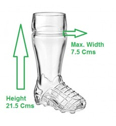 Borgonovo Boot Soccer Beer Glass 500 ML, 1 Pc
