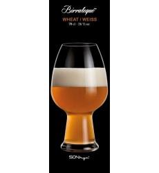 Luigi Bormioli Birrateque Craft Beer Glasses Wheat (Set of 2), 26.5 oz, Clear