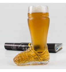 Borgonovo Boot Soccer Beer Glass 300 ML, 1 Pc