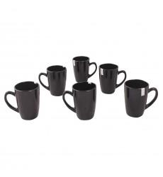 Black Glass Mug Galaxy Mug (set of 6)