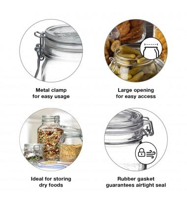 Bormioli Rocco Fido Glass Canning Jar Italian - 4 Liter