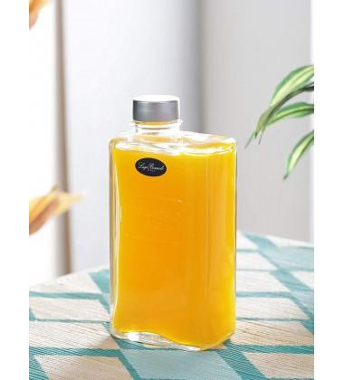 Luigi Bormioli Optima Rectangular Glass Can with Screw Cap 500 ml