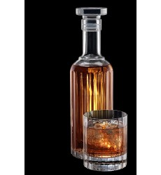 Luigi Bormioli Bach Spirits Bottle with Glass Stopper, 23.75 oz, Clear