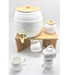 Aggarwal Crockery & Scientific Stores Porcelain Dublin Beverage Set-9pcs, White
