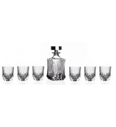 RCR Crystal Adagio Collection 7-Piece Whiskey Set
