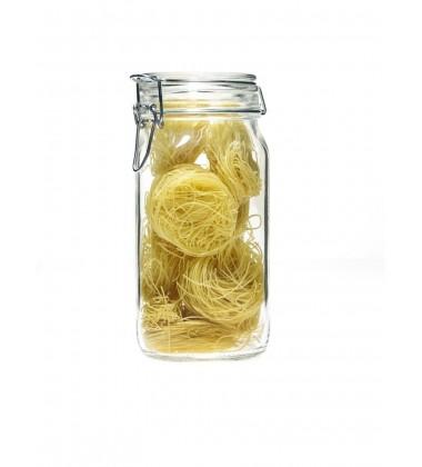 Bormioli Fido Clear Square Canning Jar 1.5 Liter