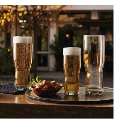 Bormioli Rocco New Pilsner Beer Glass 19.5 oz., Set of 6, Clear