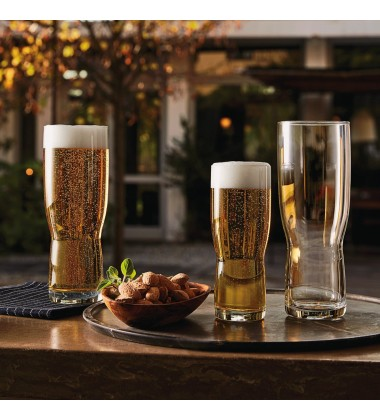 Bormioli Rocco New Pilsner Beer Glass 14.25 oz., Set of 6, Clear