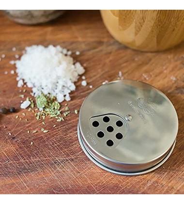 Bormioli rocco Pack pots of 2 (4 Seasons Cap) 250 gr Salt/Spice Italian Style Italy