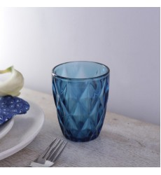 Aggarwal Crockery & Scientific Stores Glass Blue Color Water Glass 280ml