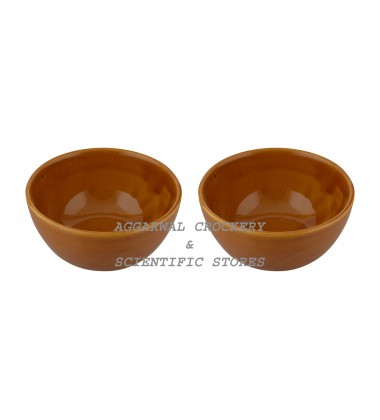 Aggarwal Crockery & Scientific Stores Ceramic Bowl, 5 Inch, Set of 2 Pieces