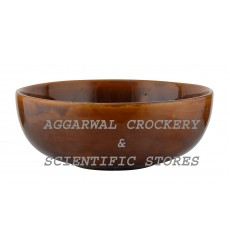 Aggarwal Crockery & Scientific Stores Ceramic Bowl, 7 inch, Brown