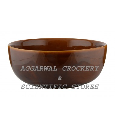 Aggarwal Crockery & Scientific Stores Ceramic Bowl, 8 inch, Brown