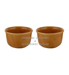 Aggarwal Crockery & Scientific Stores Ceramic Deep Bowl, 4 Inch, Set of 2 Pieces