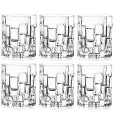 RCR Cristalleria Italiana Crystal Glass Drinkware Set (DOF Whiskey (11 oz) - 6 Piece Set)