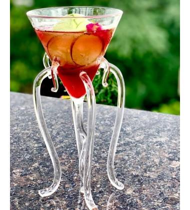 Octopus Martini Glass Creative Cocktail Drinkware Bar Goblet Tools (2 Transparent)