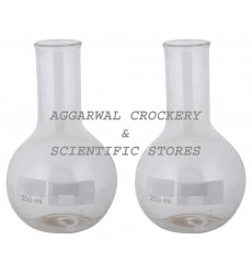 Aggarwal Crockery & Scientific Stores Flat Bottom Flask 250ml Borosilicate Glass (Pack of 2)