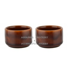 Aggarwal Crockery & Scientific Stores Ceramic Bowl, 2 Inch, Set of 2 Pieces