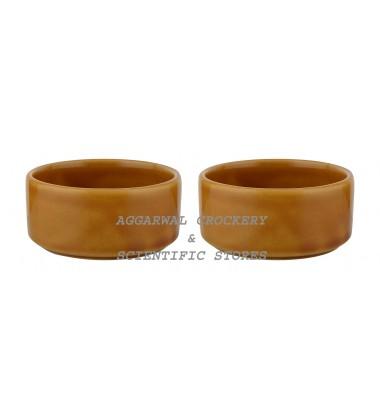 Aggarwal Crockery & Scientific Stores Ceramic Bowl, 3.25 Inch, Set of 2 Pieces