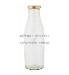 Aggarwal Crockery & Scientific Stores Glass Milk Bottle (500ml, Clear) Pack of 2