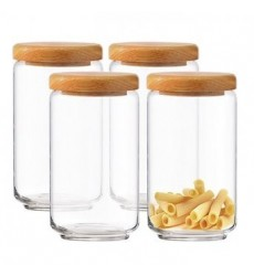 Ocean Pop Jar 500 ml with Wooden Lid (Set of 6)