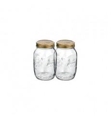 Bormioli Rocco Quattro Stagioni 17 Ounce Canning Jar, Set OF 2