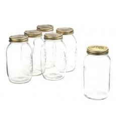 Bormioli Rocco Quattro Stagioni 50 3/4 Ounce Canning Jar, Set of 6