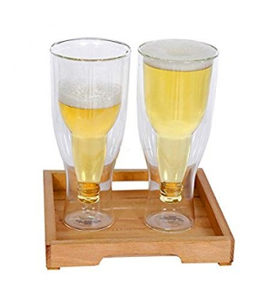 Aggarwal Crockery & Scientific Stores Inverted Beer Glass 450ml Set of 2pc