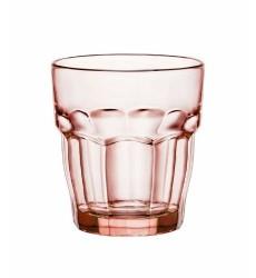 Bormioli Rocco Rock Bar Lounge Rocks Glasses, Peach, Set of 6