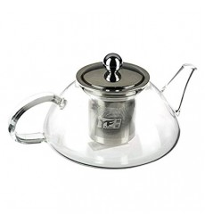 Aggarwal Crockery & Scientific Stores Glass Tea Pot with Strainer 600ml