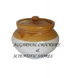 Aggarwal Crockery & Scientific Stores Pickle Jar Handi 500 gm