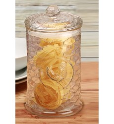 Circleware Rooster Canister With Glass Lid 1.8L