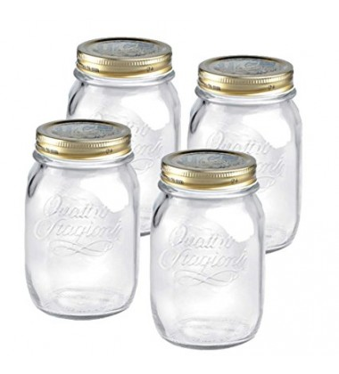 Bormioli Quattro Jars with Lid, Set of 4 , 500ml