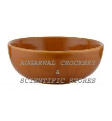 Aggarwal Crockery & Scientific Stores Ceramic Bowl, 6 Inch, Brown