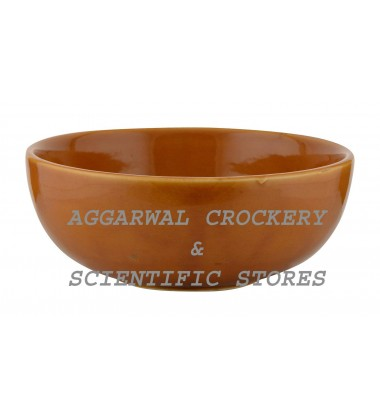 Aggarwal Crockery & Scientific Stores Ceramic Bowl, 6 Inch, Brown