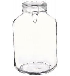 Bormioli Rocco Fido Round Clear Jar, 169-Ounce