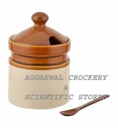 Aggarwal Crockery & Scientific Stores Pickle Jar Ceramic 750 gm