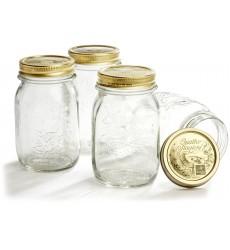 Bormioli Rocco Quattro Stagioni 500ml, 6 Piece Canning Jar Set, Gift Boxed