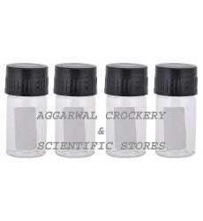 Aggarwal Crockery & Scientific Stores Media Bottle 10ml Borosilicate Glass (Pack of 4)