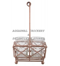 Aggarwal Crockery & Scientific Stores Glass Holder with 2 Glasses