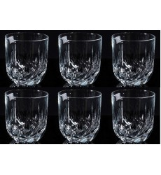 RCR Trix Clear Crystal Modern Tumbler Set of 6 - Stunning Crystal Glass Cups WIne Tumblers or Whiskey Glass