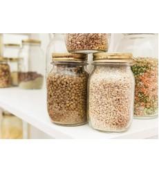 Bormioli Rocco Quattro Stagioni 1000ml 3-Piece Canning Jar Set, Gift Boxed