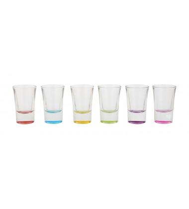 Borgonovo Indro colored Junior Shot Glass 35ml, 6 Pieces, Multi-Color